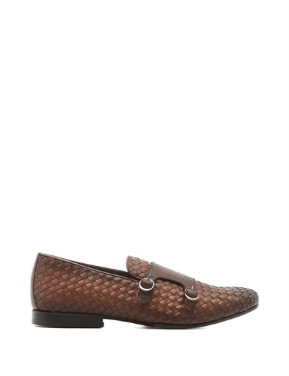 Robyn Mens Moccasin Saddle Brown Darkened Braid