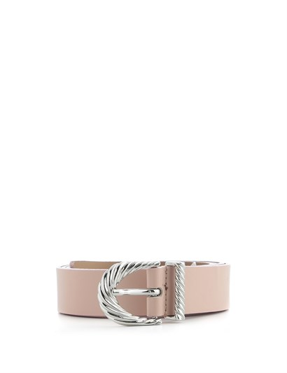 Sandy Womens Belt Powder Pink Leather