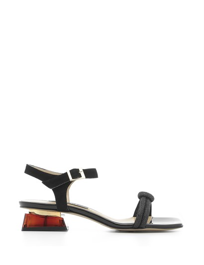Sap Womens Sandal Black Suede