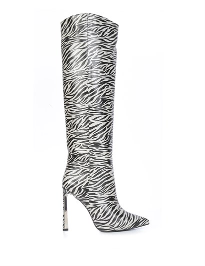 Semel Womens High Boot Cream-Black Zebra