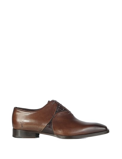 Shery Mens Classic Shoe Brown Darkened