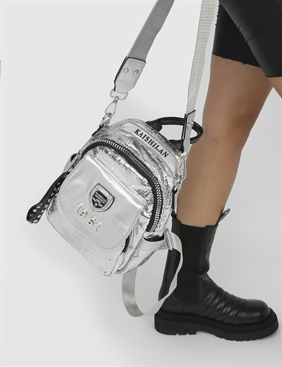 Silvia Silver Womens Backpack