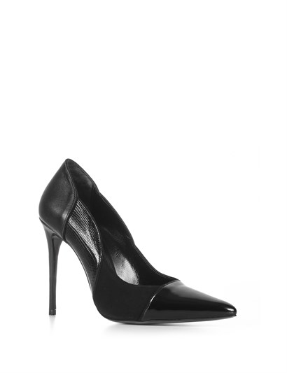 Snak Womens Stiletto Black Patent Leather