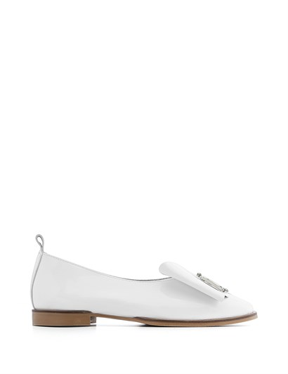 Toys Womens Ballerina White Patent Leather
