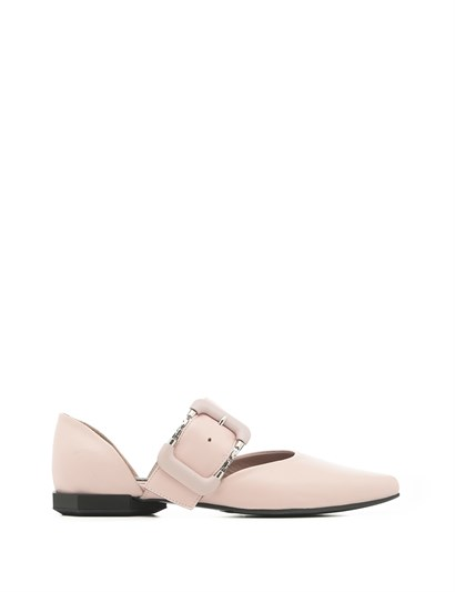 Tri Womens Ballerina Powder Pink Leather
