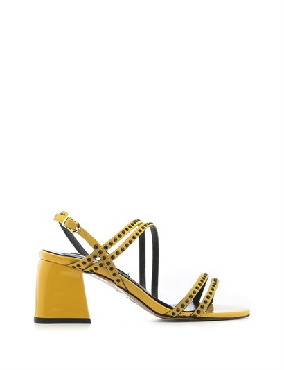 Trol Womens Sandal Yellow Satin