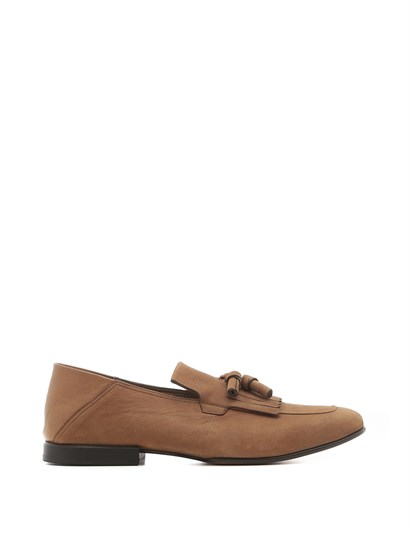 Trula Mens Moccasin Reddish Brown Nubuck