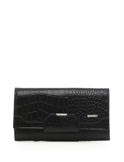 Valmont Womens Wallet Black Crocodile