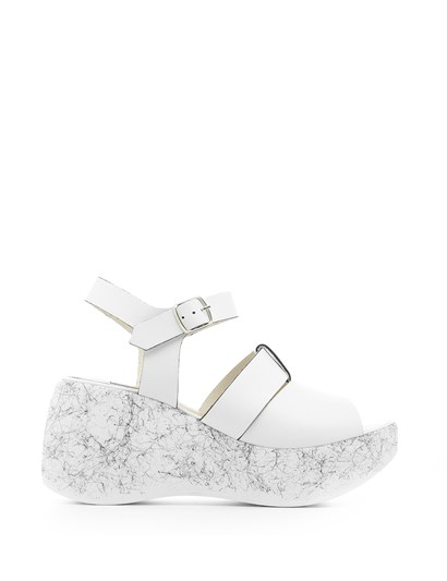 Vero Womens Sandal White Leather