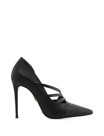Vip Women's Stiletto Black Print-Black Patent Leather