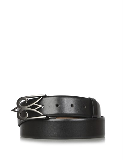 Volıen Mens Double-Sided Belt Black Leather