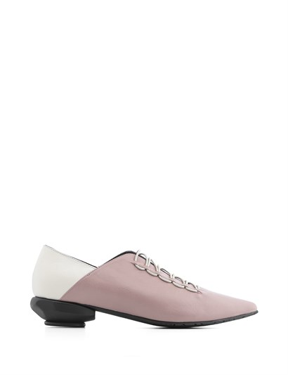 Wella Womens Moccasin Powder Pink-White Leather