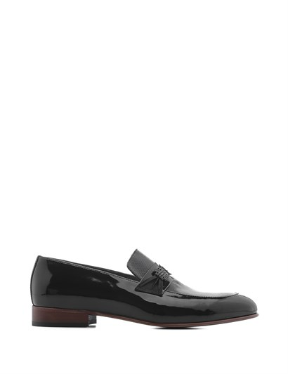 Wings Mens Classic Shoe Black Patent Leather