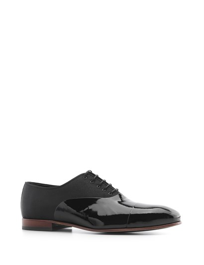 Zeta Mens Classic Shoe Black Patent Leather